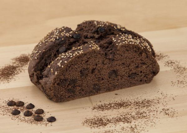 Pan especial chocolate sin gluten hogaza
