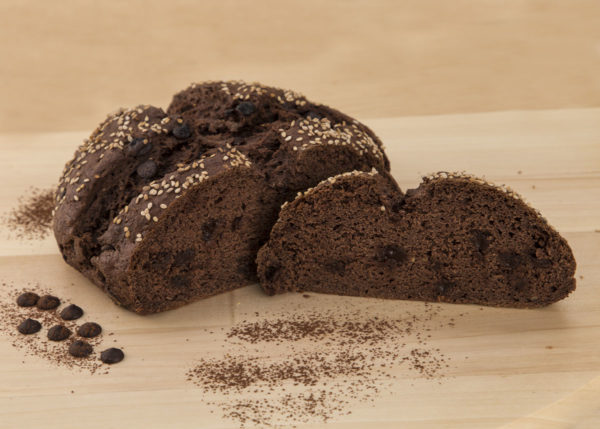 Pan especial chocolate sin gluten (interior)